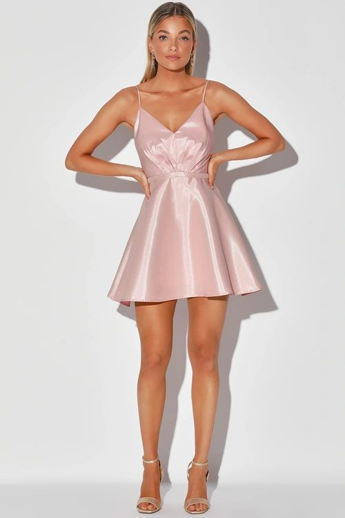Love to Be Loved Light Pink Sleeveless Skater Dress