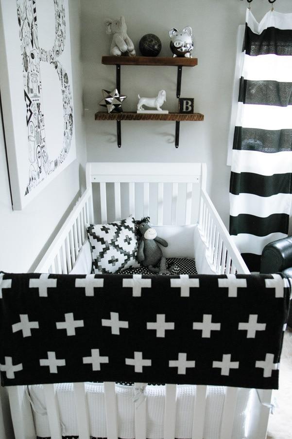 Black White Gray Modern Nursery Petite Modern Life