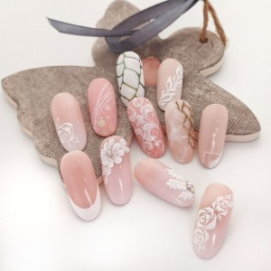 wedding nail art combo