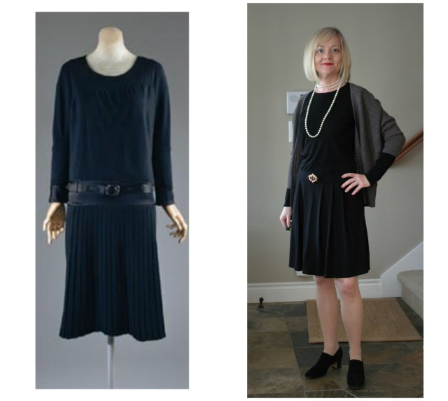 Coco Chanel's Little Black Dress compared with my version of it.