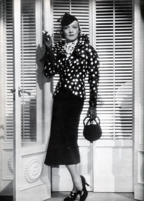 Marlene Dietrich polka dot jacket
