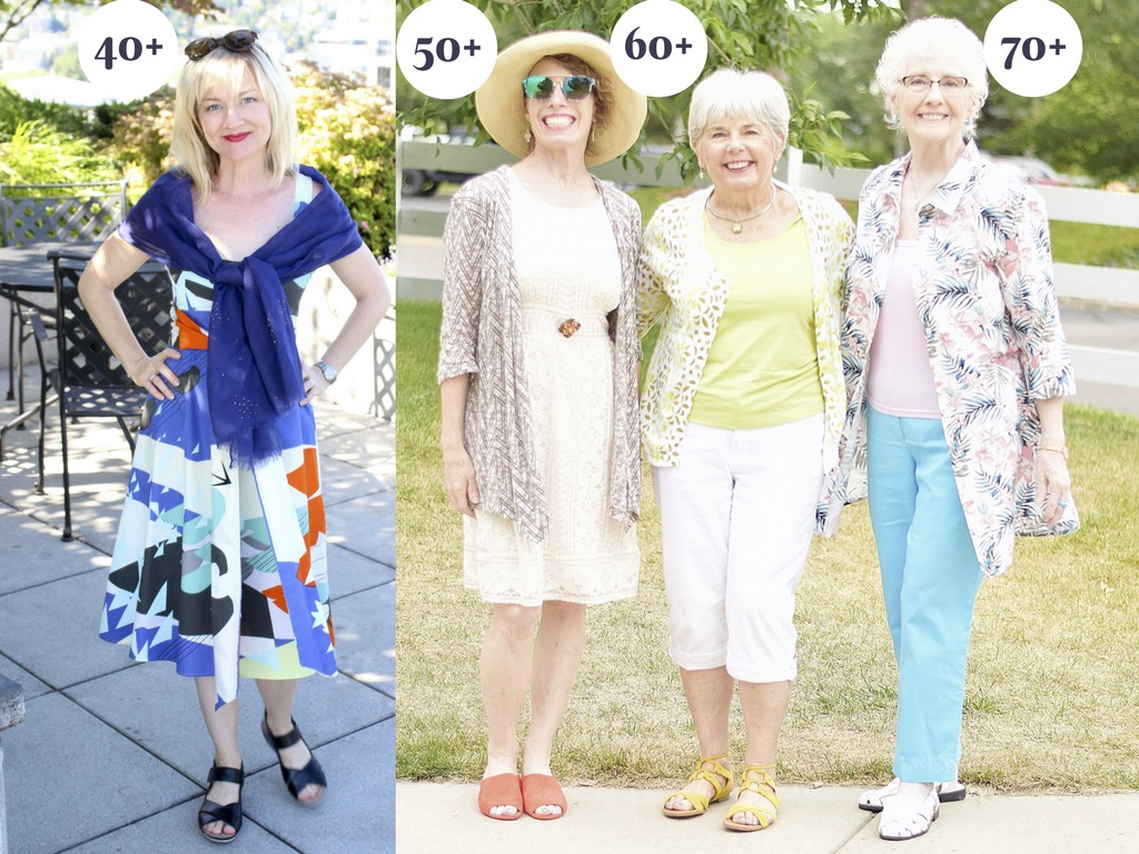 fab collab: summer get-away styles over 70 - petite over 40