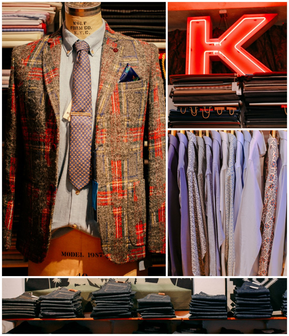 Clothing for men available at KUHLMAN in Seattle.