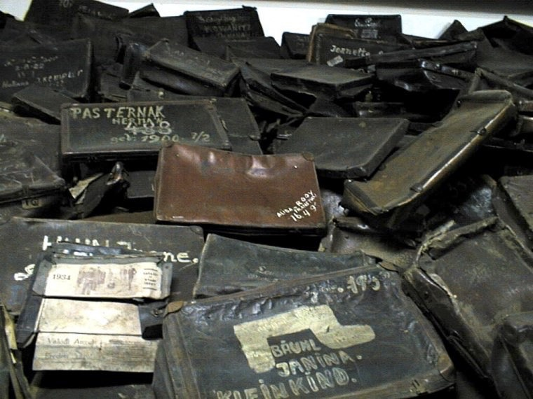 luggage auschwitz poland concentration camp