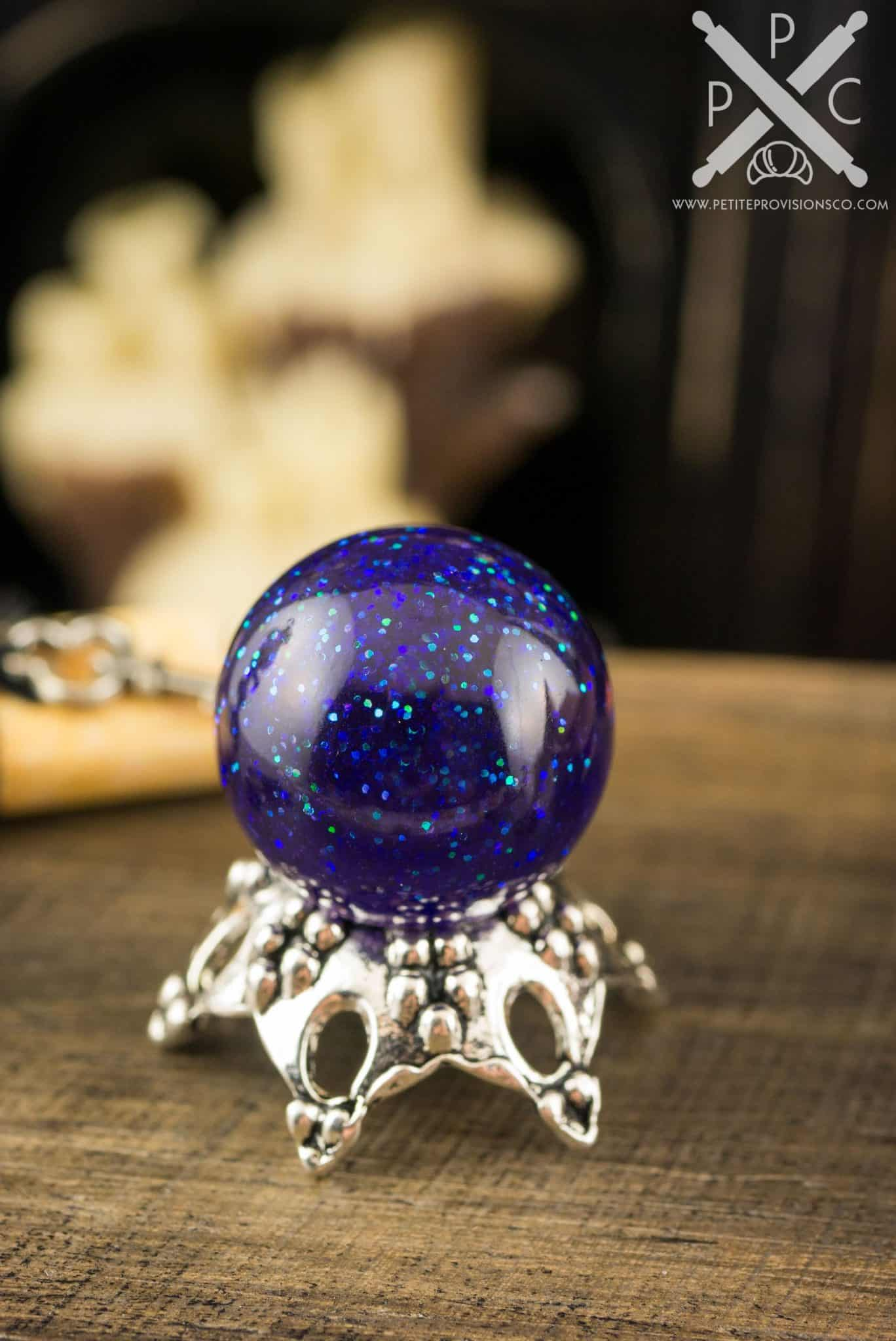 Miniature Galaxy Magical Crystal Ball Gazing Ball