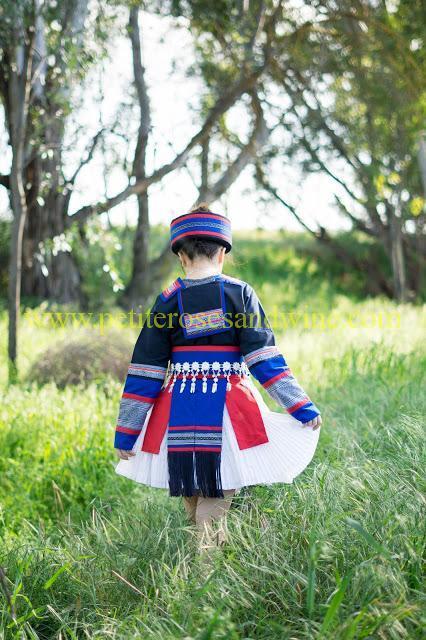 km-03204 Hmong Outfit:: Batik & Silver DIY OUTFITS