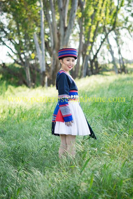 km-03208 Hmong Outfit:: Batik & Silver DIY OUTFITS