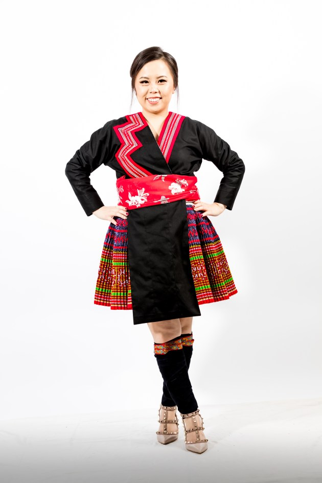 A2A0642-683x1024 Hmong Outfit :: Red Appliqué & Zig Zags DIY HMONG Hmong Outfit Series