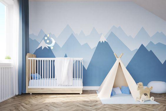 Tuto Facile Diy Deco Murale Montagne Dans La Chambre De Bebe