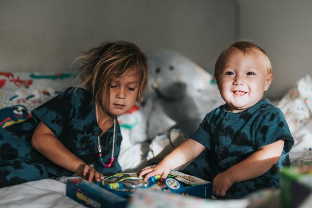 Petite Tribu Gustave Papa solo 2 enfants