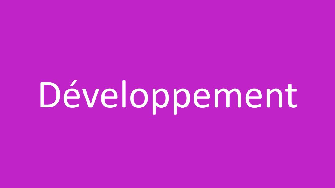 Catégorie Développement