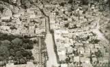 """1939 год. Панорама към централната част на града с площад """"Цар Крум"""", площад """"Цар Симеон"""" и новата Поща"""