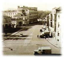 1966 год. Панорама към пощата на запад