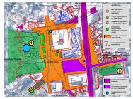 83-84 Ландшафтна система около Площад Централен и Традиционни комуникационни направления