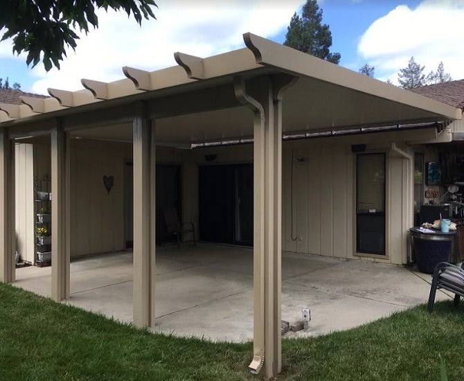 Flatwood Solid Roof Mounted Patio Cover Carmichael Ca