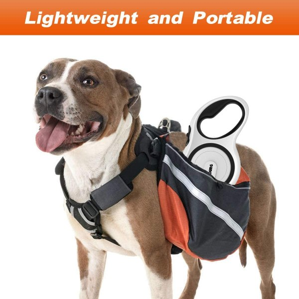 Upgraded Retractable Dog Leash, Heavy Duty Pet Walking Leash with Anti-Slip Handle, 16ft Strong Anti-bite Nylon Tape for Medium Large Dogs up to 110lbs, One Button Lock & Release