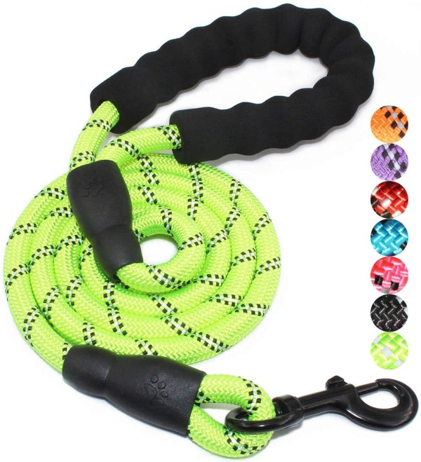 BAAPET 5 FT Strong Dog Leash with Comfortable Padded Handle and Highly Reflective Threads for Small Medium and Large Dogs