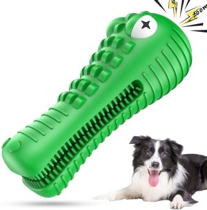 ANOVICTOR Dog Chew Toys for Aggressive Chewers Large Medium Puppy Breed Extremely Durable Toothbrush Tough Oral Dental Care Teething Cleaning Outside Interactive Pets Training Toys