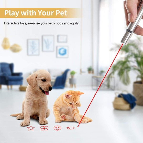 Glracd Cat Toys, Multi-Mode Interactive Cat Toys for Indoor Cat and Dog, Multi-Pattern for Pet Toys Chase Play