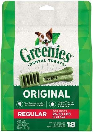 Greenies Original Regular Natural Dental Dog Treats (25 - 50 Lb Dogs)