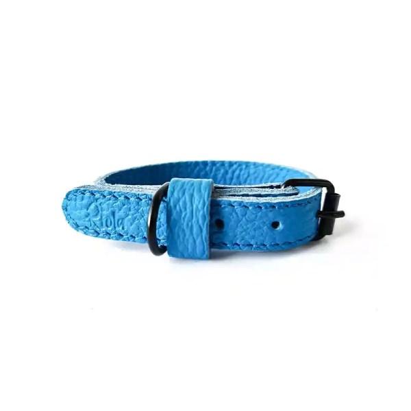 Riola Design Peacoblue prémium bőr kutyanyakörv