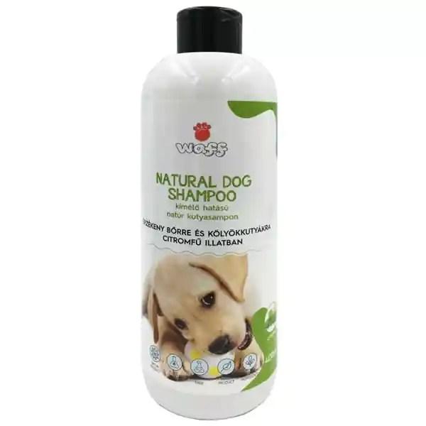 Waff Natúr kutyasampon, kölyök kutyáknak, érzékeny bőrre, kímélő, citromfüves