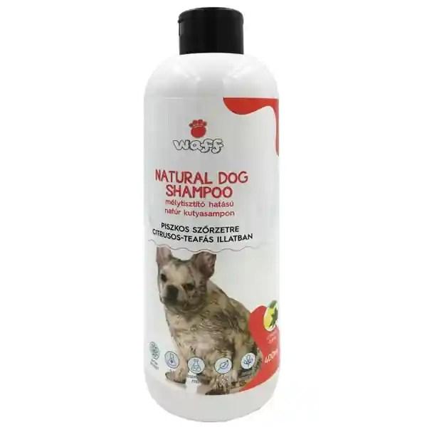 Waff Natúr kutyasampon, Mélytisztító, piszkos szőrzetre, citrusos-teafás