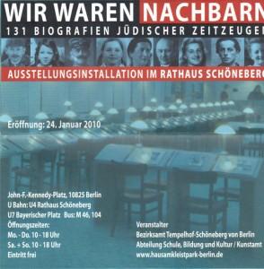 Abbildung des Veranstaltungsplakats zur Dauerausstellung im Rathaus Schöneberg
