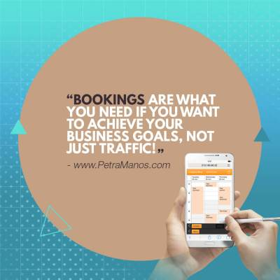 Bookings are what you need if you want to achieve your business goalsm not just traffic