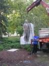 Esterházy János szobrának helyére emelése