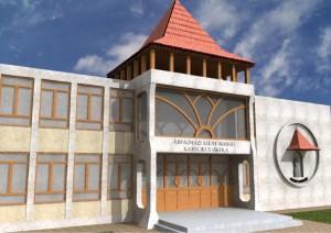 Árpádházy Szent Margit Katolikus Általános Iskola bejárati terve. A tervből a bejárat melletti Szent Margit dombormű már megvalósult. Felavatva 2010. június 11-én.