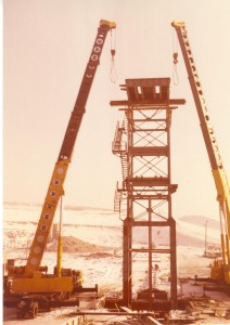 F1 aknatorony felállítása 1980 január