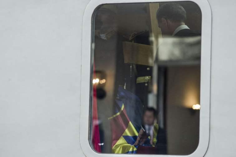 Sicriul cu corpul neînsuflețit al Majestății Sale Defuncte va fi transportat cu Trenul Regal, de la Bucureşti la Curtea de Argeş, Gara Regala Baneasa, in Bucuresti, Romania, miercuri, 13 decembrie 2017. Inquam Photos / Bogdan Buda