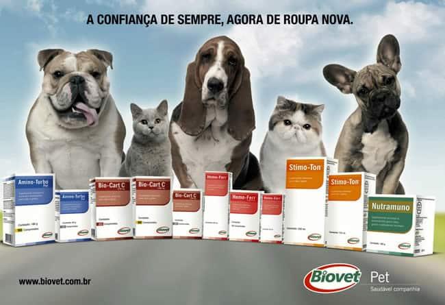 Suplementos da Linha Pet Biovet apresentam novas embalagens
