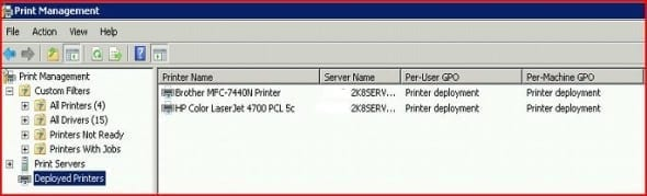 Deploying Printers by Using Group Policy on Windows Server 2008