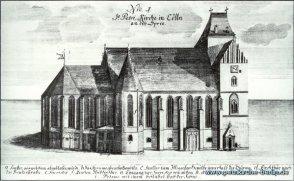 Bild der Petrikirche um 1730