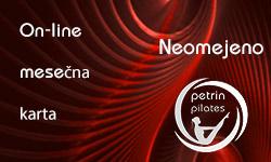 petrin pilates on-line mesečna karta