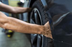 check the tire pressure