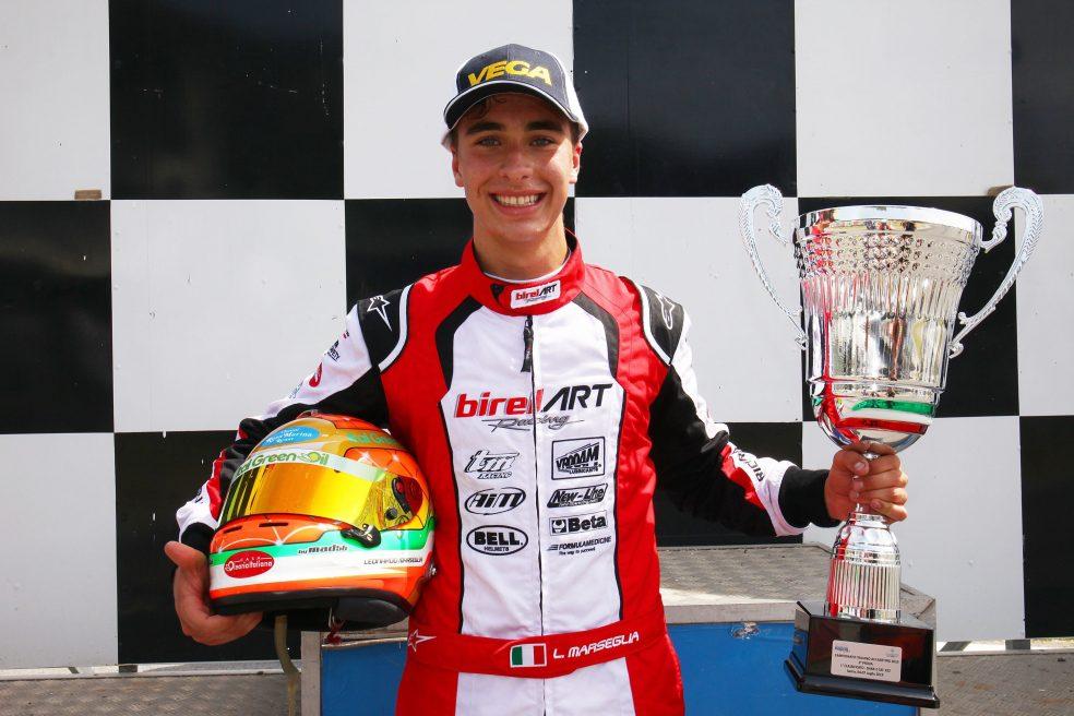 Leonardo Marseglia wins Race 2 of the Italian ACI Karting Championship in Sarno
