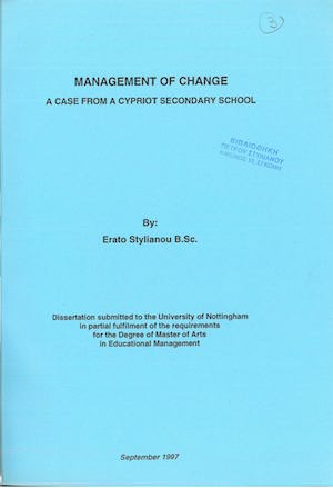 Management of Change - A case from a Cypriot Secondary School - Erato Stylianou