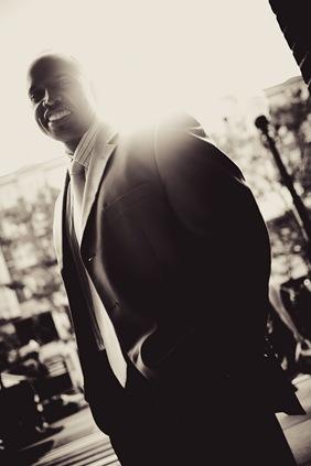 man in front of sun-flare  in arlington va