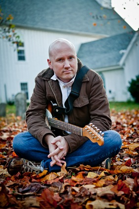 Randy morser sitting in leaves