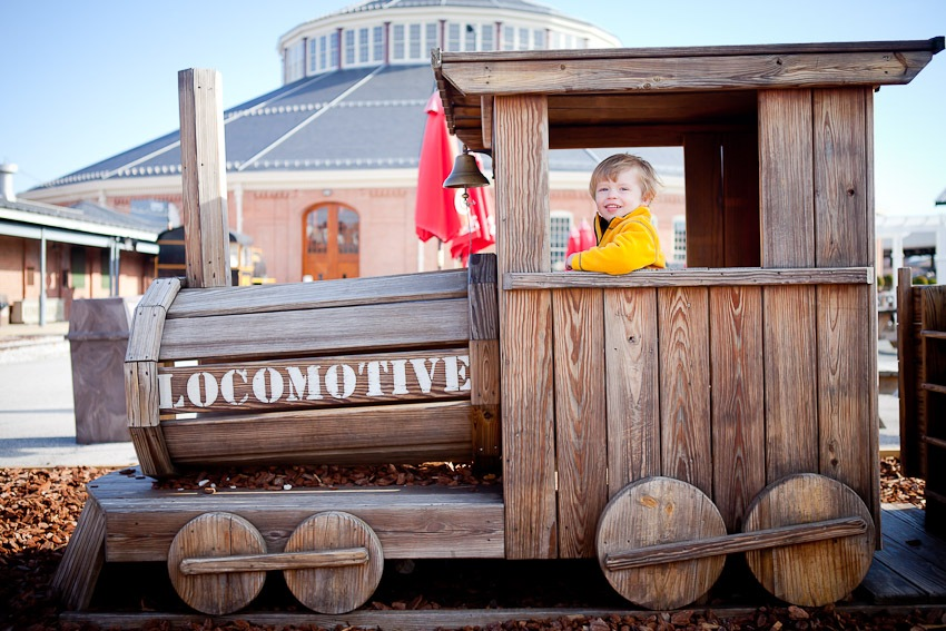 Child Portraits at the Baltimore & Ohio Railroad Museum