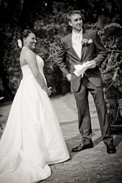 bride and groom reciting vows at Mt. Airy Mansion in Upper Marlboro Maryland