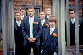 groom and groomsmen at Mt. Airy Mansion in Upper Marlboro Maryland