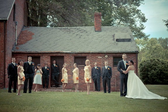wedding party at Mt. Airy Mansion in Upper Marlboro Maryland