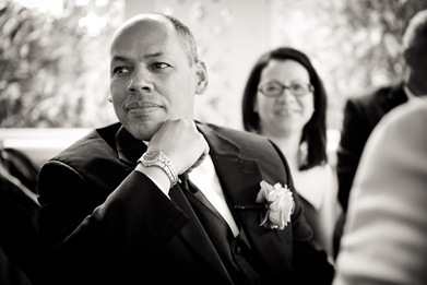 father watching bride and groom dance at Mt. Airy Mansion in Upper Marlboro Maryland