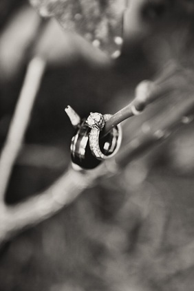 Close up of wedding rings in Mechanicsville MD