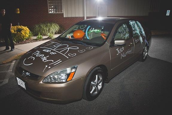 Bride and Groom's get away car