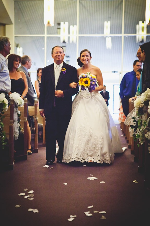 bride walking down isle with father at Annapolis EP